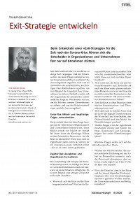 Transformation: Exit-Strategie entwickeln